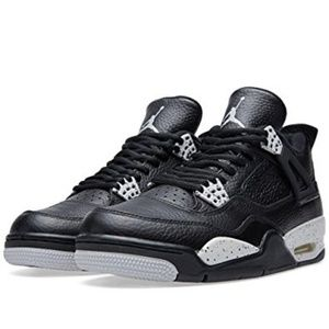 Nike Air Jordan Retro IV 4 LS Black Tech Grey Oreo